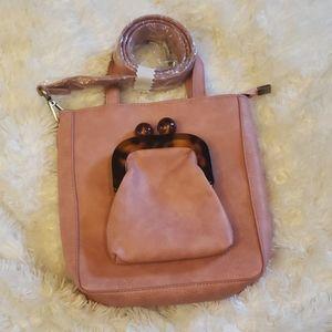 Anthropologie Rose Kangaroo Pouch Bag